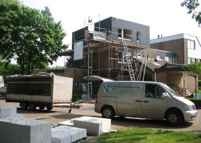 Extra verdieping op woonhuis in Tilburg